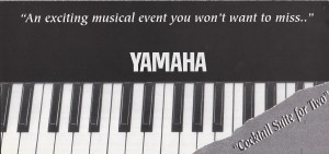 Yamaha Direct Mail Piano Promotion