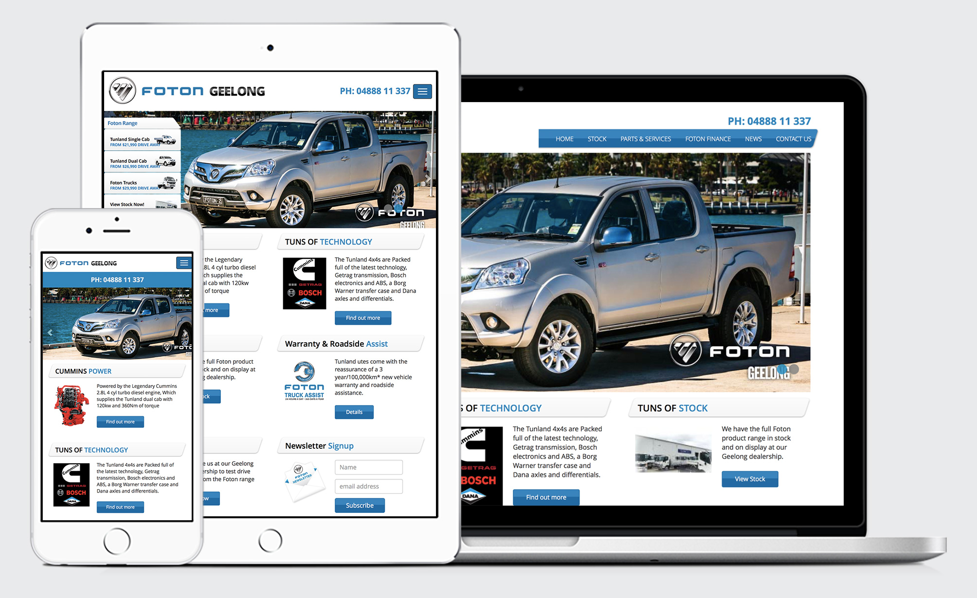 Foton Geelong Responsive Website